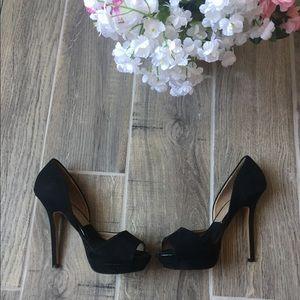 Zara High Heels Stilettos Black Suede